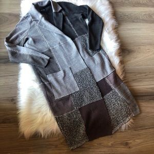 Nic + Zoe Open Cardigan Duster Size Small Patches